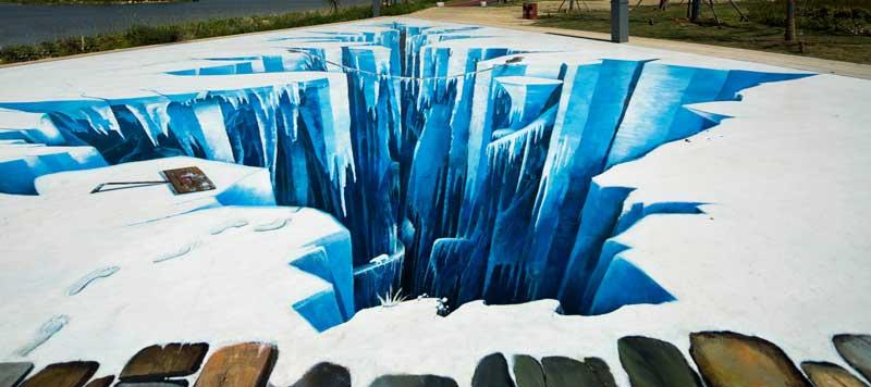 宿迁3d冰川_无锡墙绘,无锡手绘墙,无锡壁画(彩绘,个性